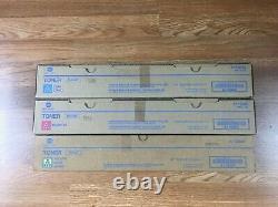 Lot Of 3 Genuine Konica TN319 CMY Toner For Bizhub C360 FedEx 2 day
