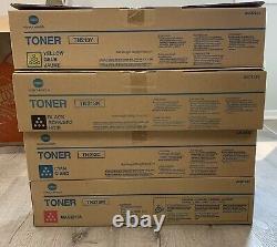 Lot Of 5! Genuine Konica Minolta Tn213k/tn213y/tn213m/tn213c Toner Bizhub C203
