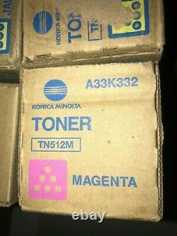 Lot of 12 New Genuine Konica Minolta TN512C TN512M and TN512Y Cartridge