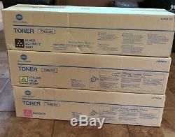 NEW Genuine Konica Minolta TN613K TN613Y TN613M C452 Toner Cartridges