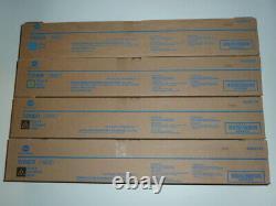 NEW! Lot of 4 Genuine Konica Minolta 2 TN-620K 1 TN620Y 1 TN620C Toner Cartridge