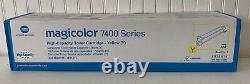 New! Genuine KONICA MINOLTA MagiColor 7400 7450 Printer 8938614 Yellow HY TONER