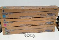 New Genuine Konica Minolta TN-319 CMY A230-330-430 Color Toner Set (3 Colors)