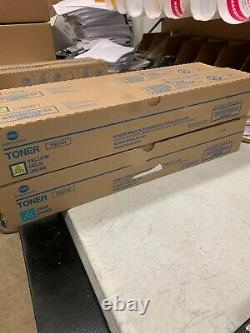 New Genuine Konica Minolta TN514 CMYK Toner for Bizhub C458 C558 C658
