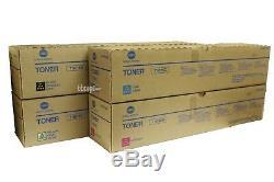 OEM TN615 CMYK SET, Lot of 4 Genuine Konica Minolta BIZHUB PRESS C8000 Toner