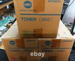 Set 3 Genuine Factory Sealed Konica Minolta TN613C TN613M TN613Y Toners