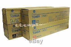 TN312 CMYK LOT OF 4 Genuine Konica Minolta Bizhub c300 c352 Toner
