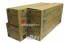 TN314 CMYK Toner SET Lot of 4 Genuine Konica Minolta bizhub C353, TN314 toners