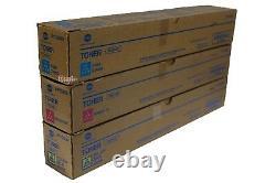 TN319 CMY Genuine Konica Minolta Toner Color Set, Lot of 3, For C360 C
