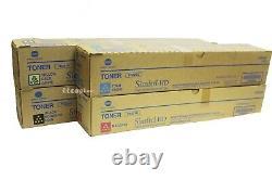 TN321 CMYK Lot of 4 Genuine Set Toners for Konica Minolta Bizhub C364 C284 C224