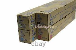 TN324 CMYK color Toners Genuine Konica minolta Lot of 4, Set