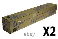 TN514K A9E8130 Lot of 2 Genuine Konica Minolta bizhub C458/558/658 Black Toner