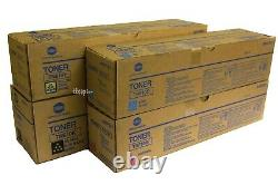 TN610 CMYK Set, Lot of 4 Genuine TN610 toner For KM BIZHUB PRO C6500, C5500