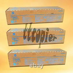 TN610C, A04P431 Lot 3 Genuine Konica Minolta Bizhub PRO C5500 C6500 Cyan Toner