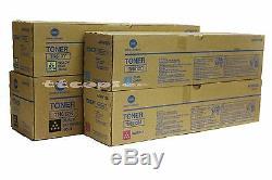 TN612 CMYK Set, Lot of 4 Genuine Toner For Konica Minolta bizhub C6501 C5501