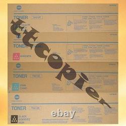 TN613 CMY and TN413K lot of 4 Genuine Konica Bizhub C452 Toner Set