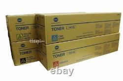 TN613C TN613M TN613Y TN613K SET lot of 4 Genuine Bizhub C552 and C652 Toner Set