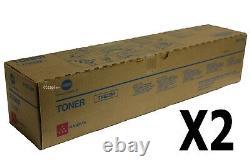 TN622M A5E7330 Lot of 2 GENUINE KONICA MINOLTA C1100/ C1085 Magenta TONER