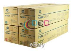 TN711 CMYK Set Genuine Konica Minolta for Bizhub C754 C654 / A3VU-SET/ Lot Of 4