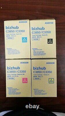 TNP48 CMYK Genuine konica Minolta Lot Of 4 Set Toner for Bizhub C3350 C385