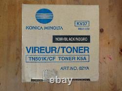 2 Pk Nouveau Konica Minolta Authentique Cf5001 8050 Toner Noir Tn501k 8937-833