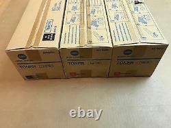 3pk Authentique Konica Tn411k Tn611m Toner Noir & Magenta Pour Bizhub C451