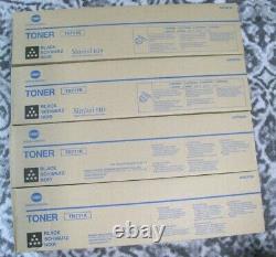 4 Authentique Konica Tn711k Cartouche De Toner Noir A3vu130 Scellée Livraison Gratuite