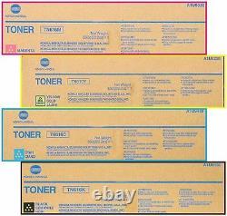 4 Nouveau Presse Konica Minolta Bizhub Véritable C6000 C7000 C7000p Toner Tn616k Tn616c