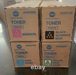4 Original Konica Minolta Bizhub C224 C284 C364 Cartouches De Toner Tn-321 Tn321k