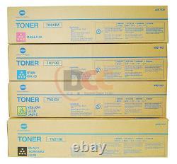 4 Véritable Konica Minolta Bizhub C203 C253 Toner Set Tn213c Tn213y Tn213m Tn213k