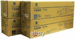 4 X Genuine Konica Bizhub C654e C754 C754e Toner Couleur A3vu330 Tn711m Tn-711c