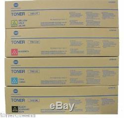 4pk Véritable Cartouche De Toner Konica Minolta C452 C552 C652 Tn613k