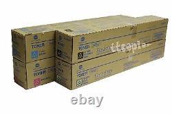 A33k, Tn512 Cymk Genuine Konica Minolta C454 C554 Ensemble De Cartouches Toner