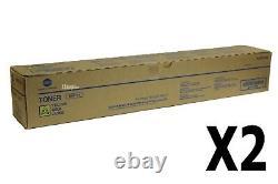 A3vx230 Tn619y Lot De 2 Genuine Konica Minolta Bizhub Press C1060 / C1070 Yellow