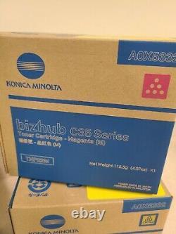 Cartouches De Toner Authentique Konica Minolta C35 Tnp22k Tnp22m Tnp22c Tnp22y