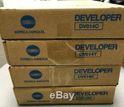 Dv614 Cmyk Konica Minolta Véritable Set, Developer Pour La Presse C1060