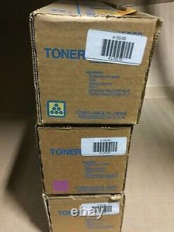 Ensemble De Toner Authentique Konica Tn616c / Tn616y / Tn616m Pour C600/c7000 (31k Yld)