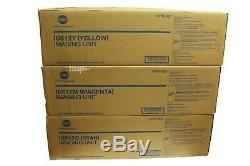 Iu612cmy Lot De 3 Unité Konica Minolta Véritable Couleur D'imagerie Set Pour C652 C452