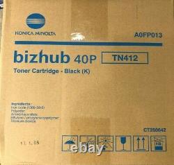 Konica Minolta A0fp013 Genuine Bizhub 40p Toner Black Fast Livraison Gratuite