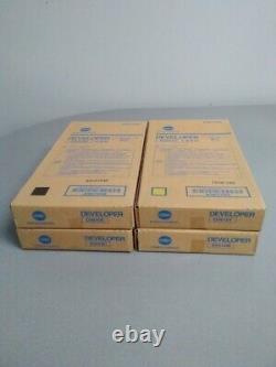 Konica Minolta Dv616 Set Y, M, C, K Developer Pour Bizhub Presse C1100 C1085 Véritable