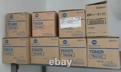 Konica Minolta Véritable Toner And Waste Basket Tn312 Black Cyan Magenta Lot De 7