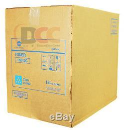 Lot De 12 Véritable Konica Minolta Tn610c Cartouches De Toner A04p431c C6500 C5500