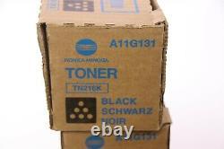 Lot De 4 Cartouche De Toner Noir Authentique Konica Minolta Tn216k Pour C220/c280