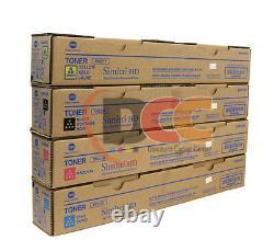 Lot Of 4 Genuine Bizhub C364 C284 C224 Toner Cymk
