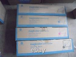 Nouveau! 4 Véritable Konica Minolta Magicolor 8600 8650 Cartouche Toner Couleur A0d7233
