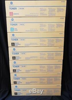 Nouveau 7 Véritable Konica Minolta Tn613c Tn413k Tn613y Tn613m C452 Cartouches D'encre