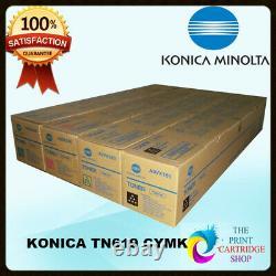 Nouveau Et Konica Minolta Tn619c Véritable Tn619y Tn619m Tn619k Cmyk Toners C1060 C1070