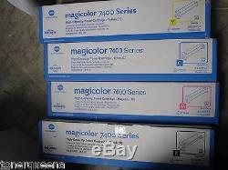 Nouveau! Minolta Magicolor 4p Véritable Konica 7400 7450 Salut Rdt Toner Ymck 8938613