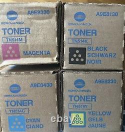 Nouveau Toner Authentique Konica Minolta Tn514 Cmyk Pour Bizhub C458 C558 C658