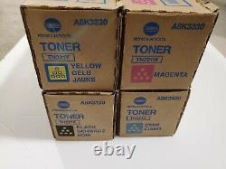 Nouveau Véritable Konica Minolta C227 C287 Tn221 Cmyk Color Toner Set Oem Ups